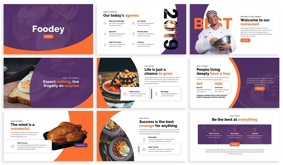 Foodey - Culinary Powerpoint Template example image 2