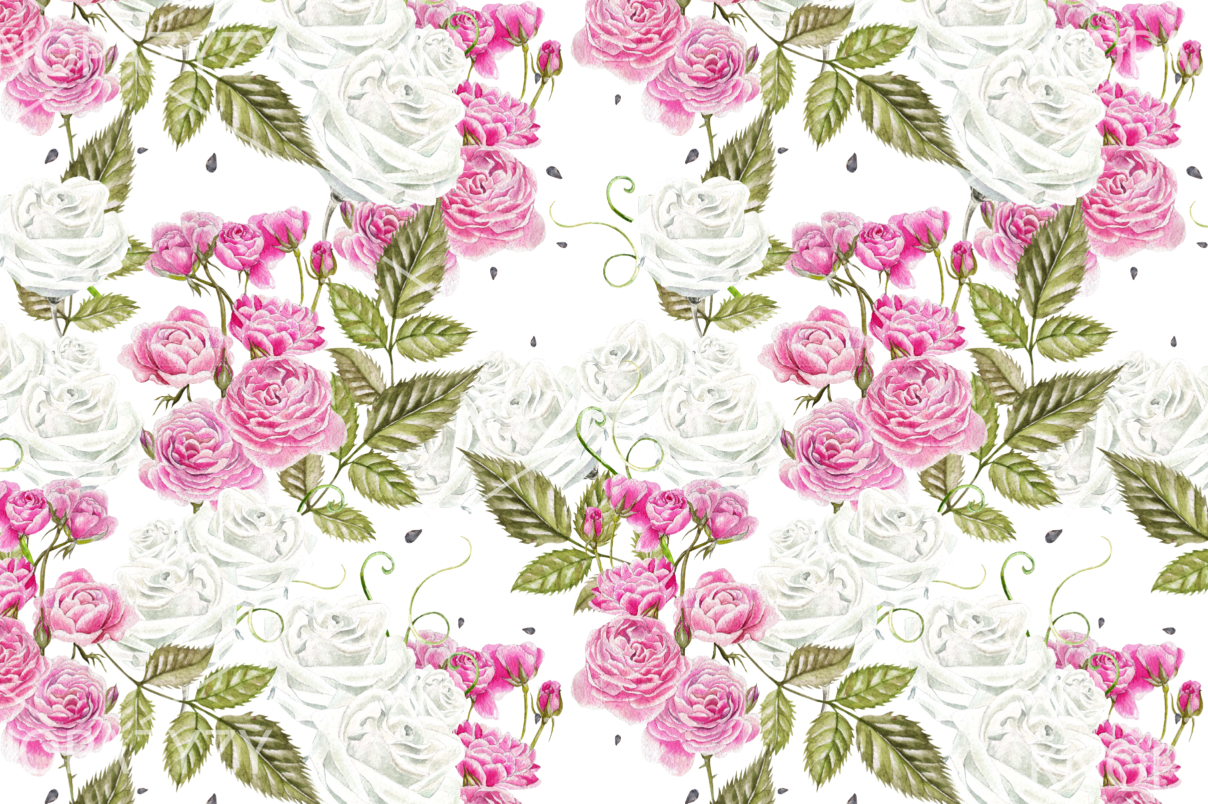 15 Hand Drawn Watercolor PATTERNS example image 2