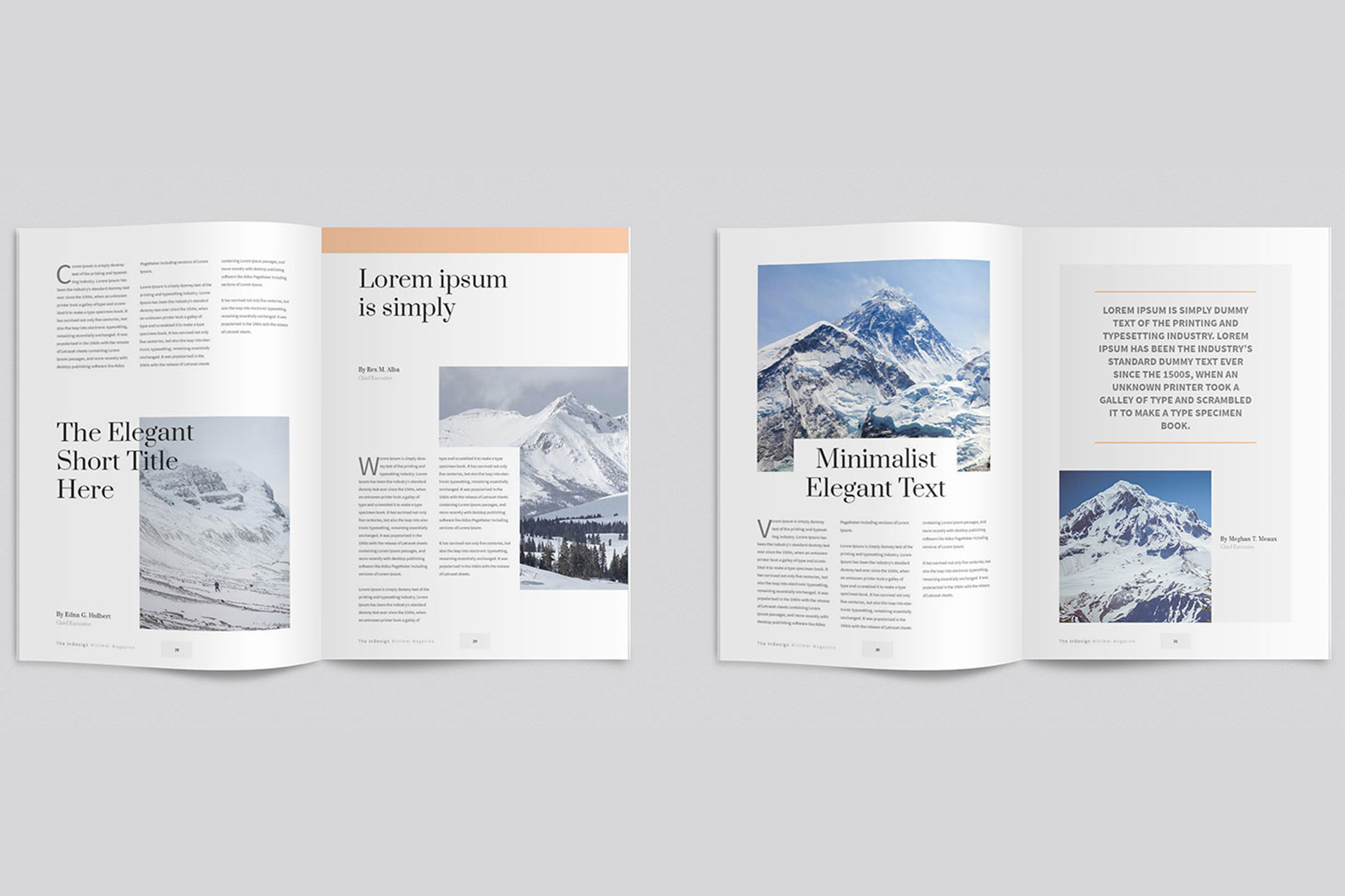 Modern InDesign Magazine Template example image 6