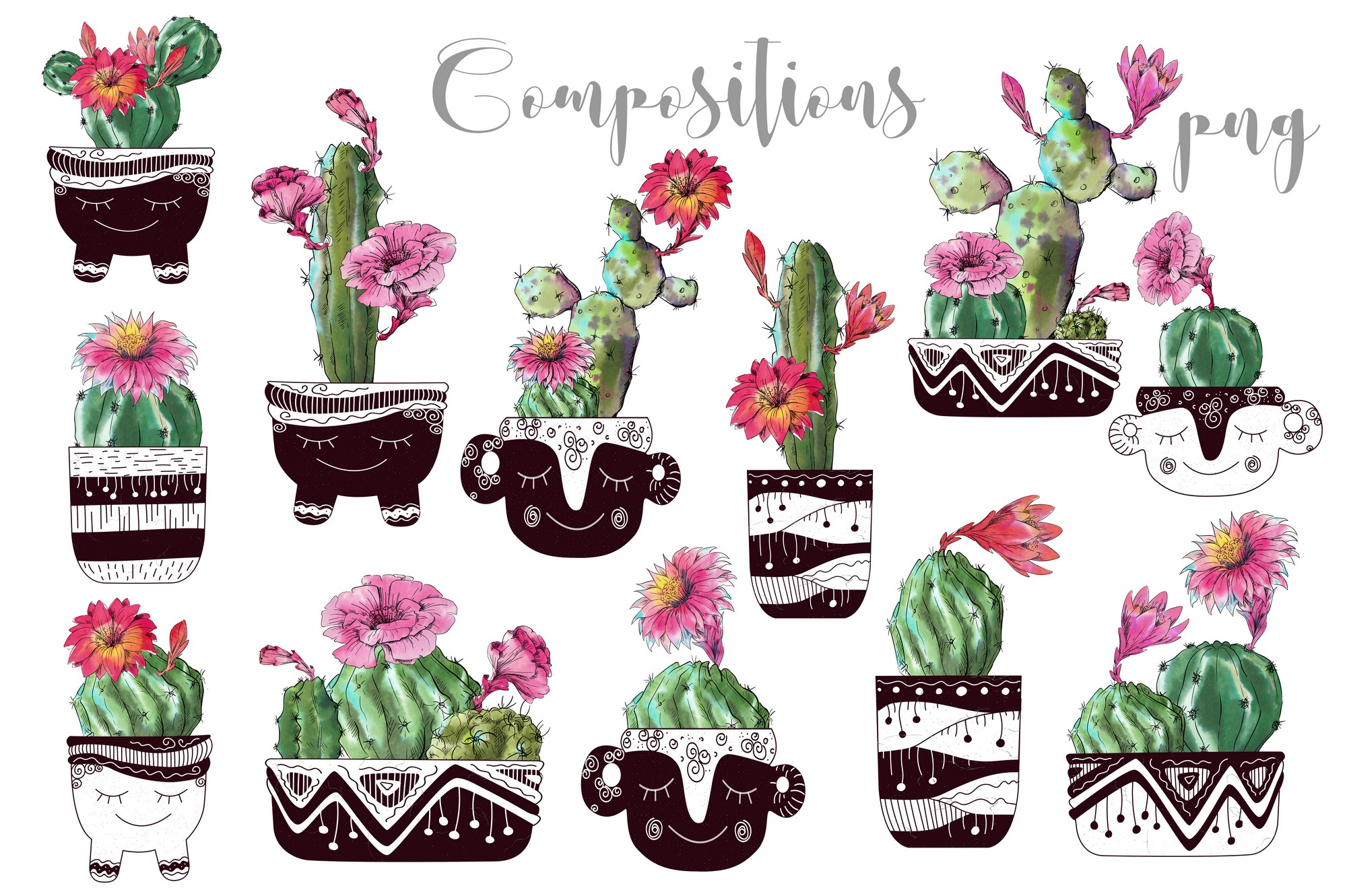 Watercolor Cactus Creator Pattern example image 6