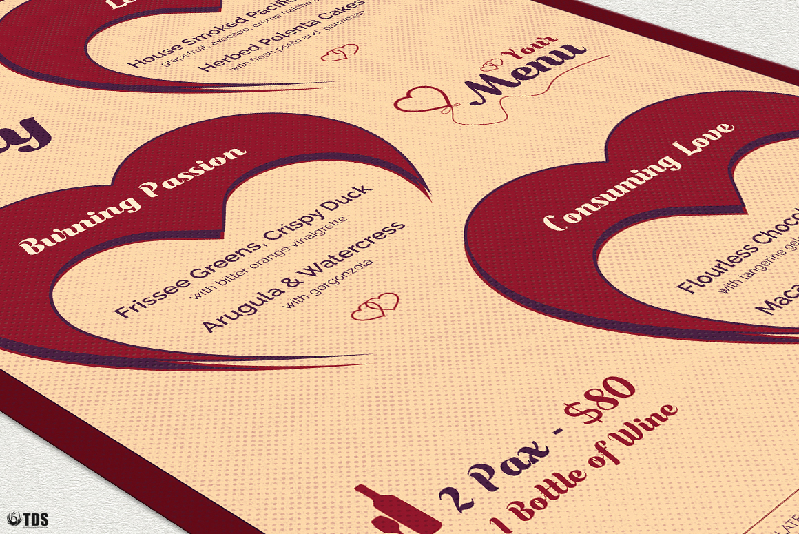 Valentines Day Menu Template V9 example image 7