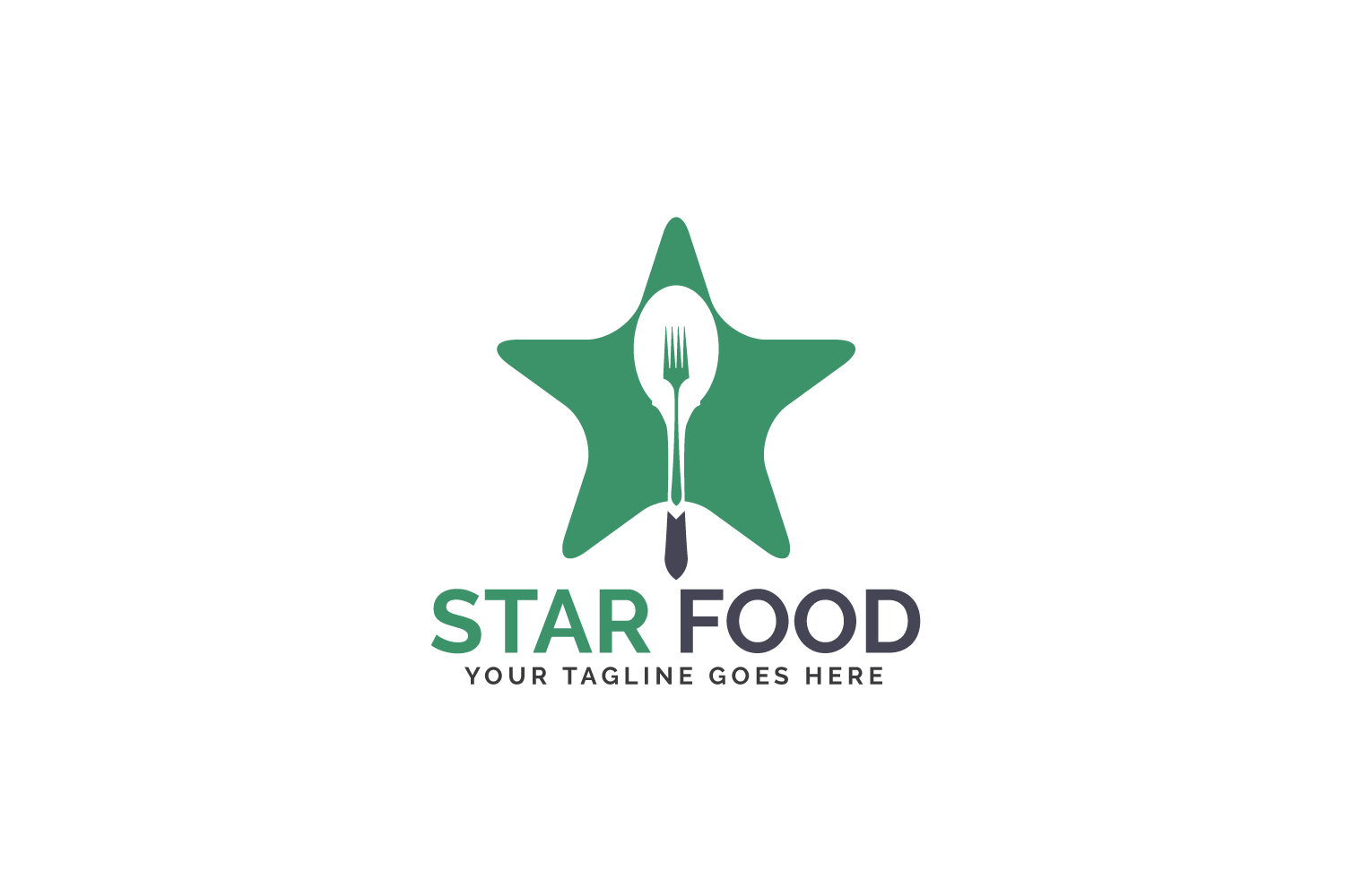 Star Food Logo Design. example image 2