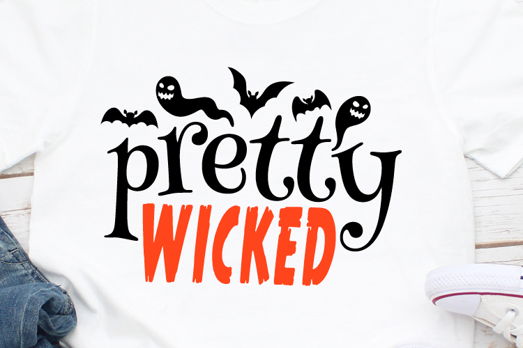 Pretty Wicked Svg, Witch Svg, Halloween Svg, October example image 1