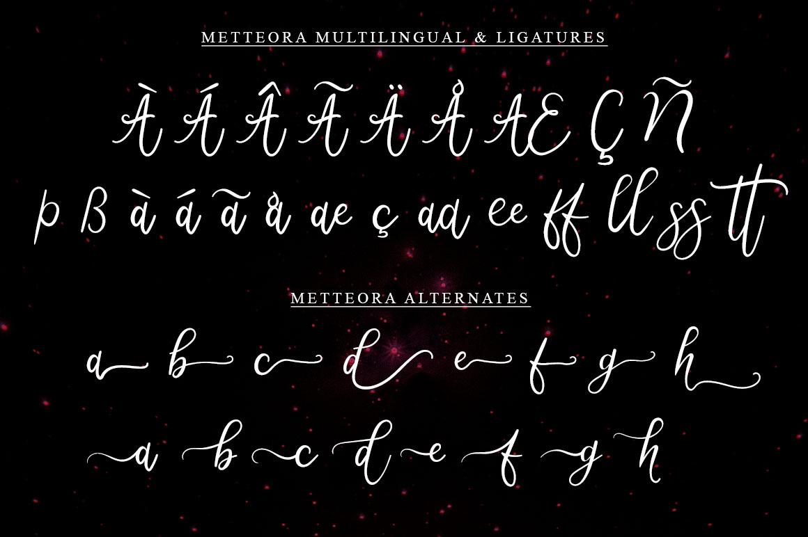 Metteora lovely script example image 4