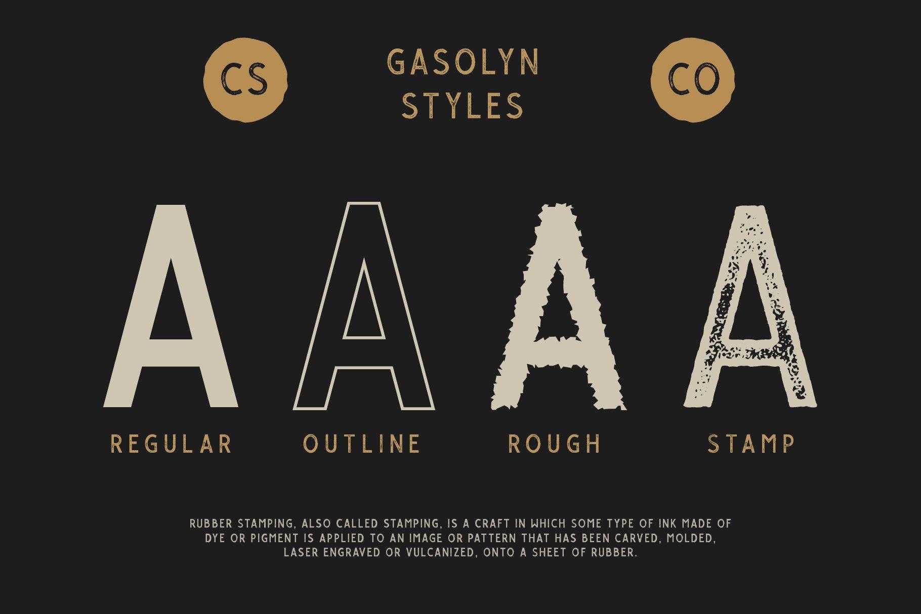 Gasolyn Font Family Bonus Extras example image 3