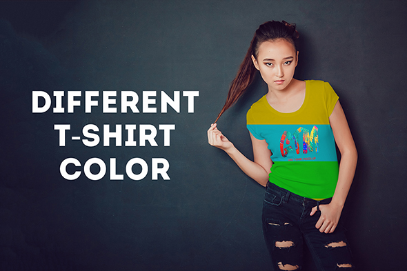 Women's T-shirts Mock-Up Vol 2 example image 7
