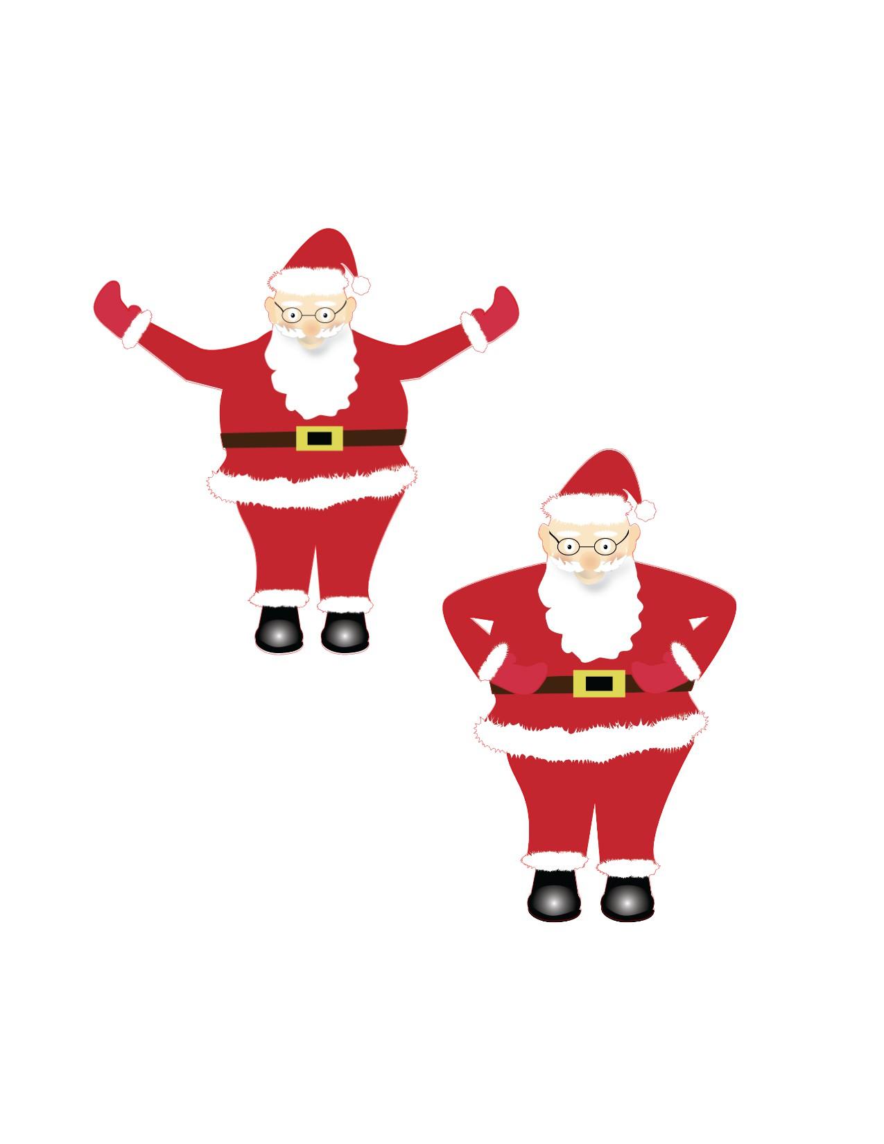 Print and Cut Santa Graphic File example image 5