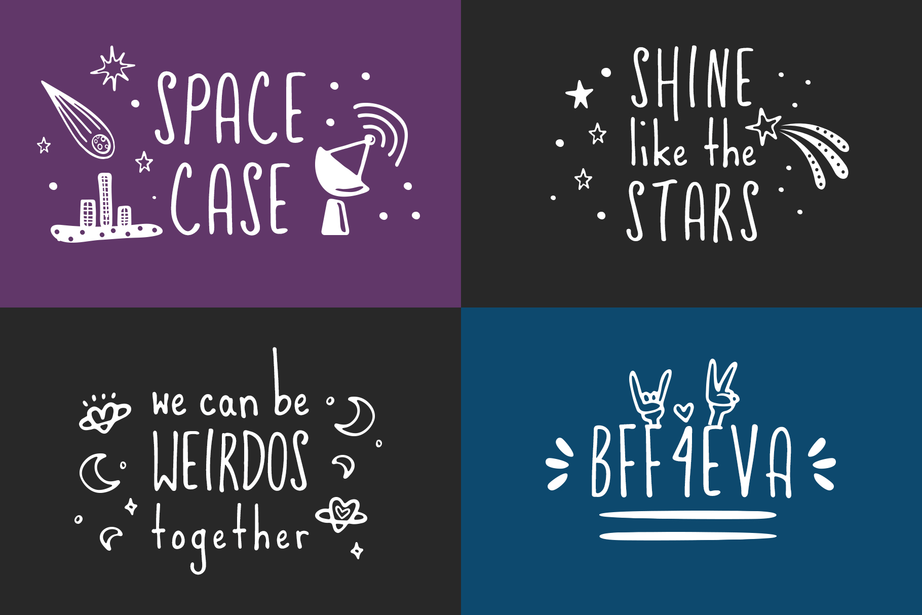 Friends & Aliens Font example image 6