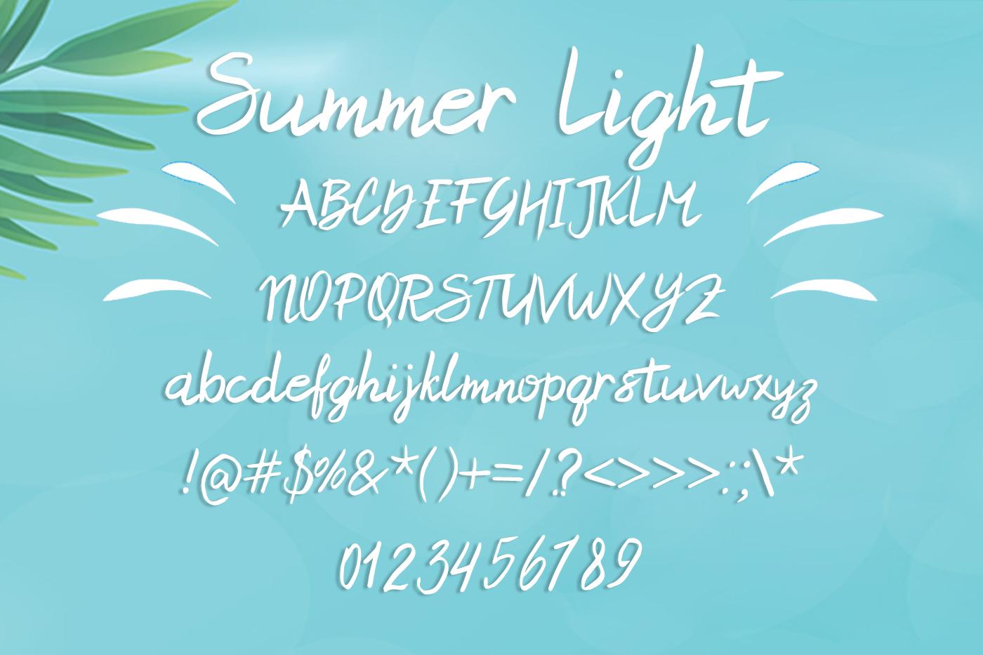 Summer Light Font example image 2