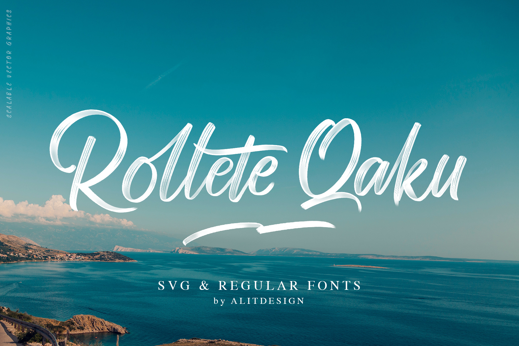 Rollete Qaku SVG & Regular fonts example image 1