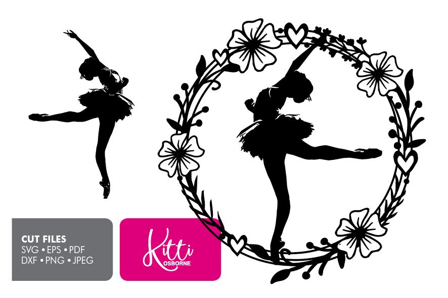 Dancer Ballerina, Paper cut Template SVG example image 1