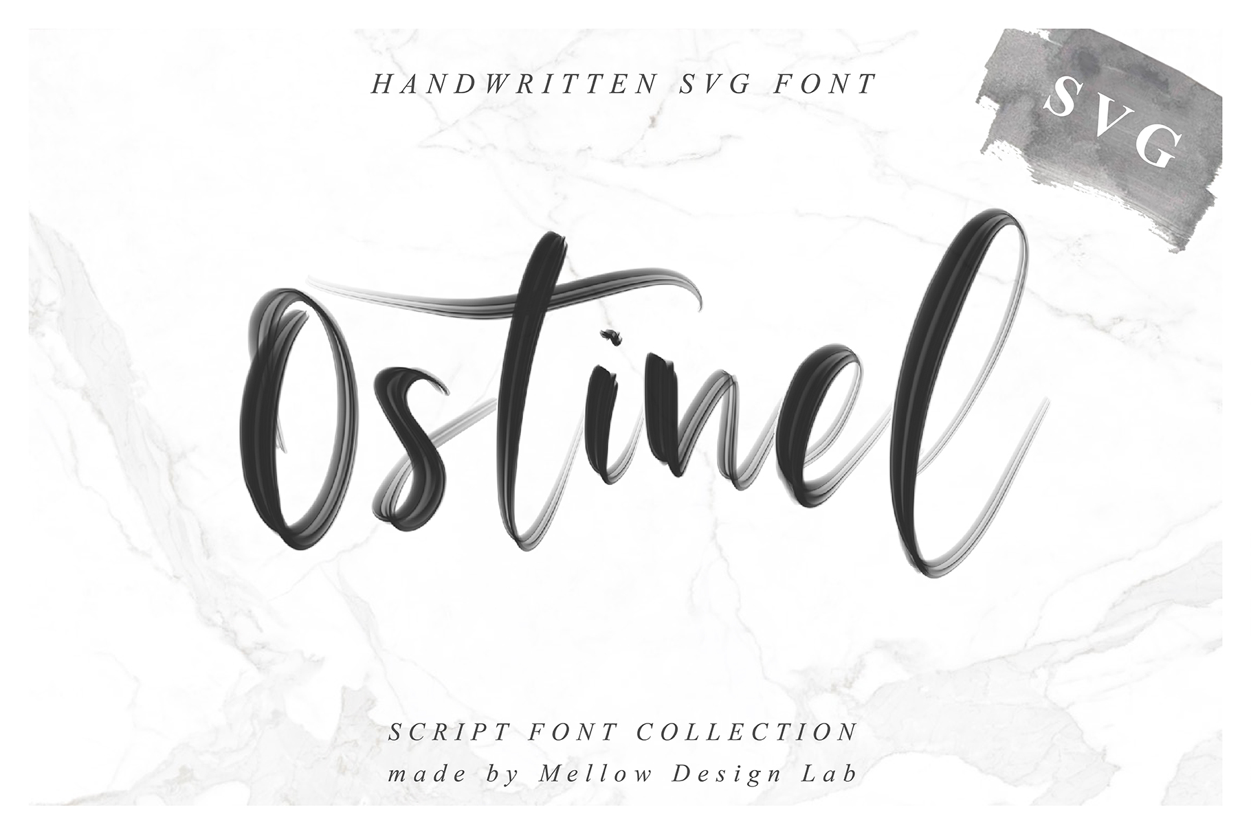Ostinel SVG Font example image 1