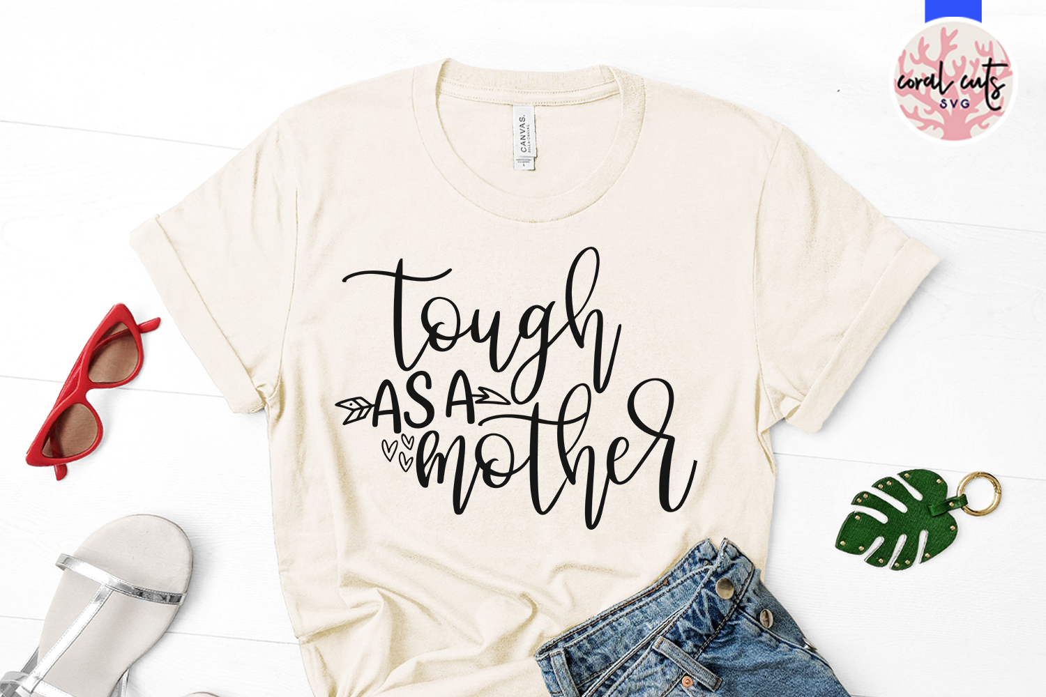 Tough as a mother - Mother SVG EPS DXF PNG Cut File example image 2