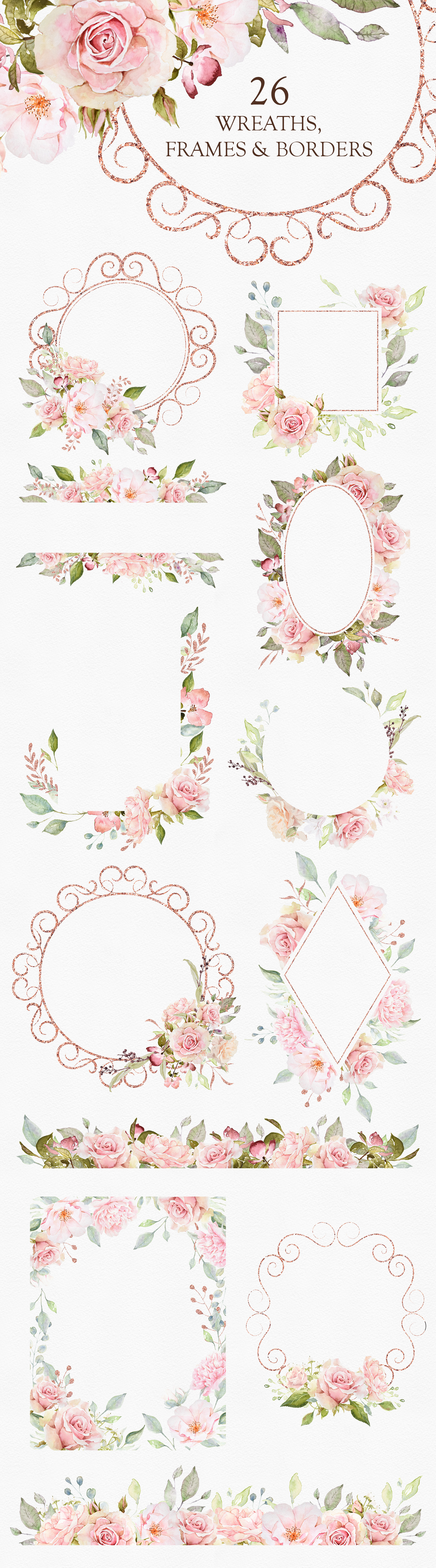 Pretty in Pink Watercolor Collection example image 6