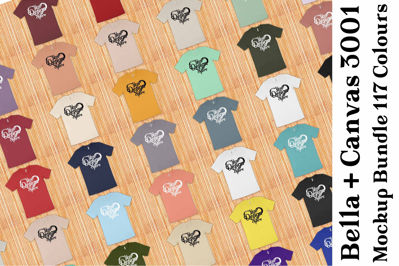 Bella Canvas 3001 Mockup Bundle T-Shirt Mock Ups 063 example image 1