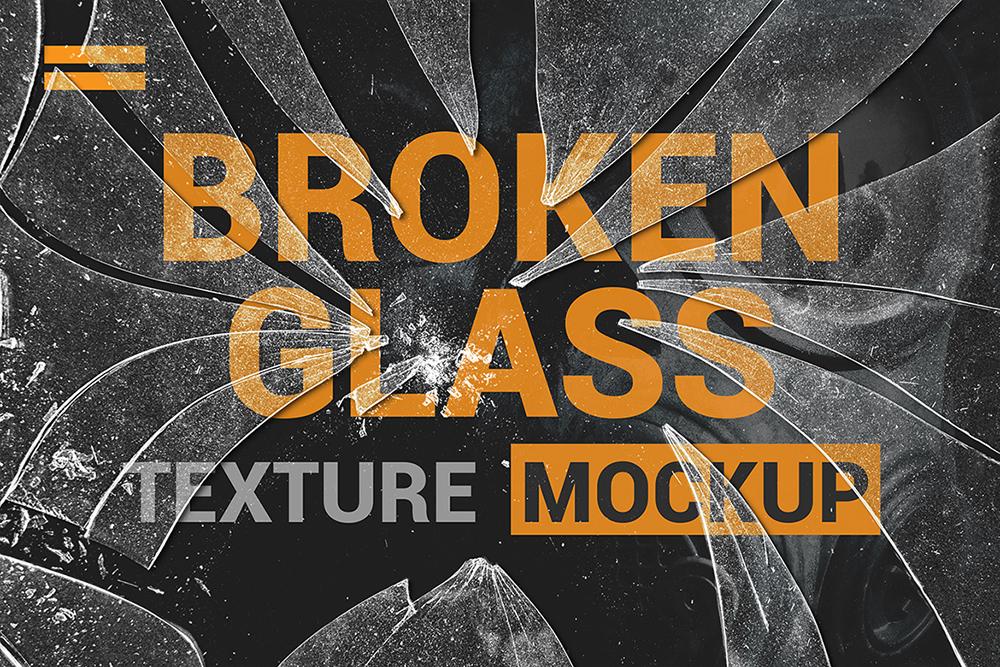 Broken Glass Texture Mockup example image 2