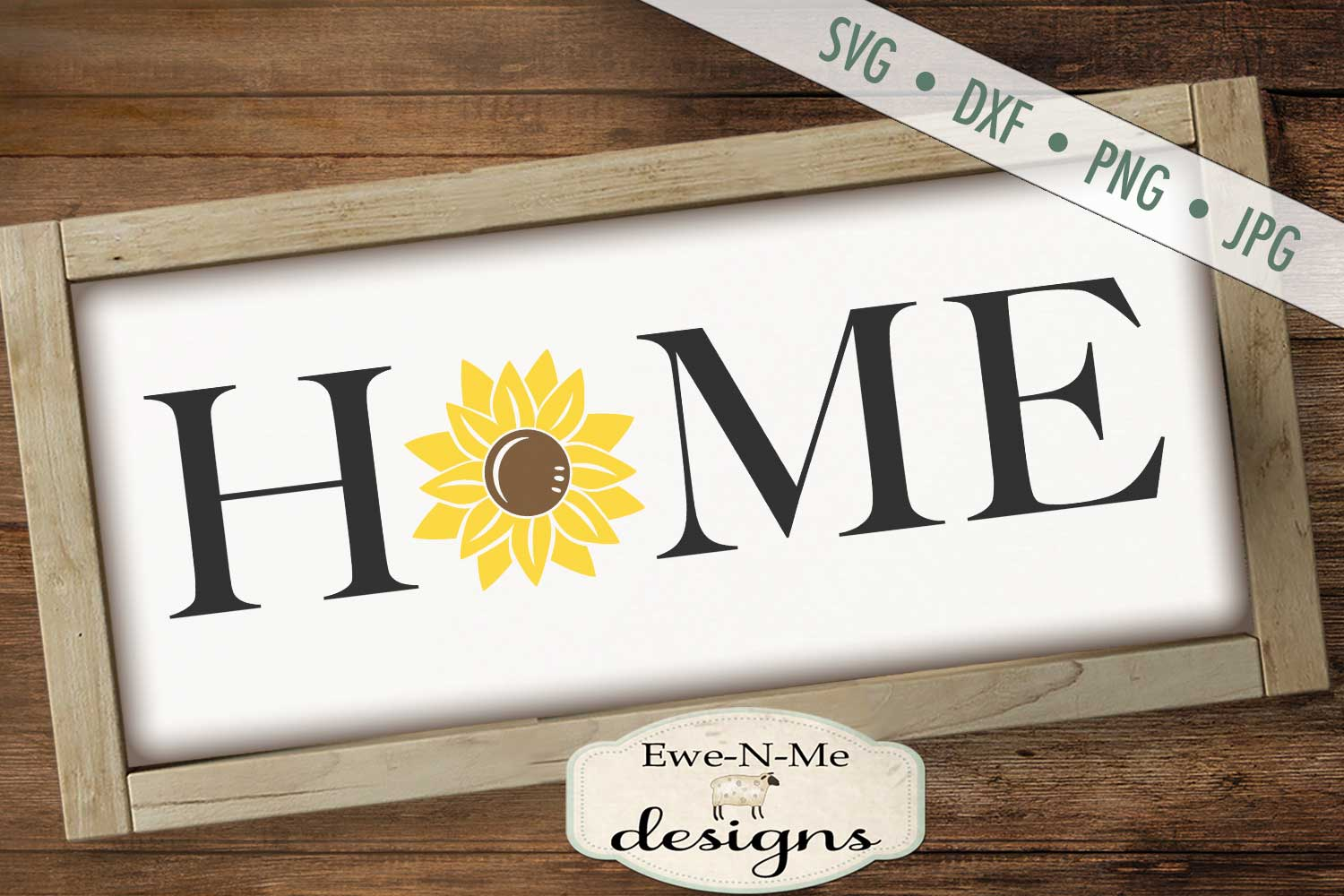 Home Sunflower SVG DXF File example image 1
