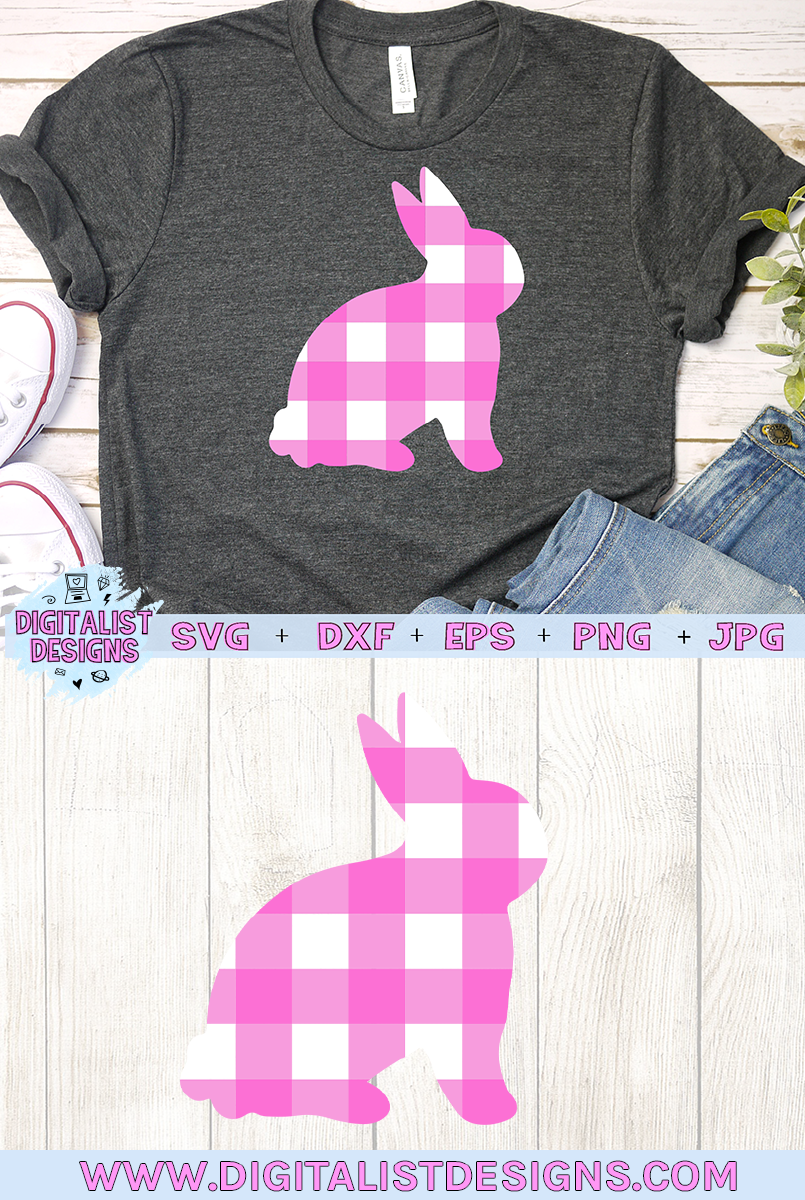 Plaid Bunny SVG example image 3