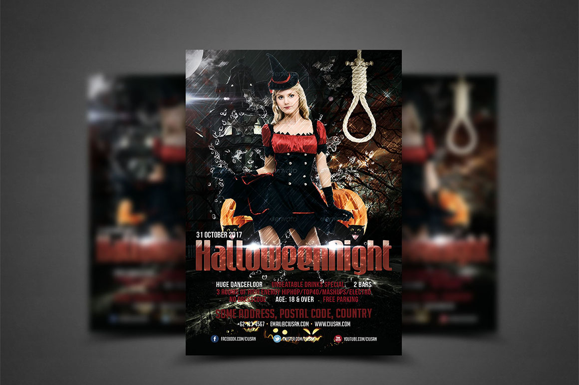 Halloween Flyer Template - Bundle example image 2
