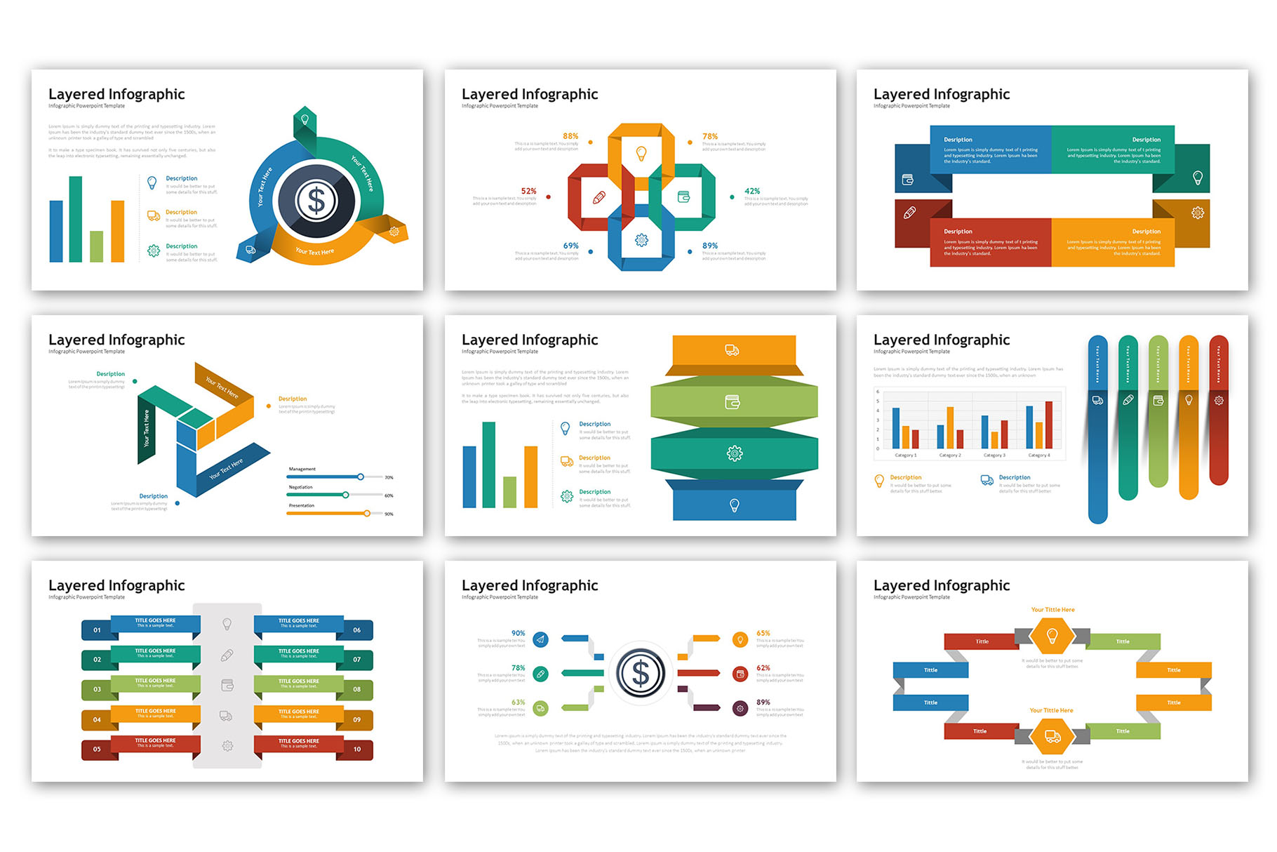 Layered Presentation - Infographic Template example image 2