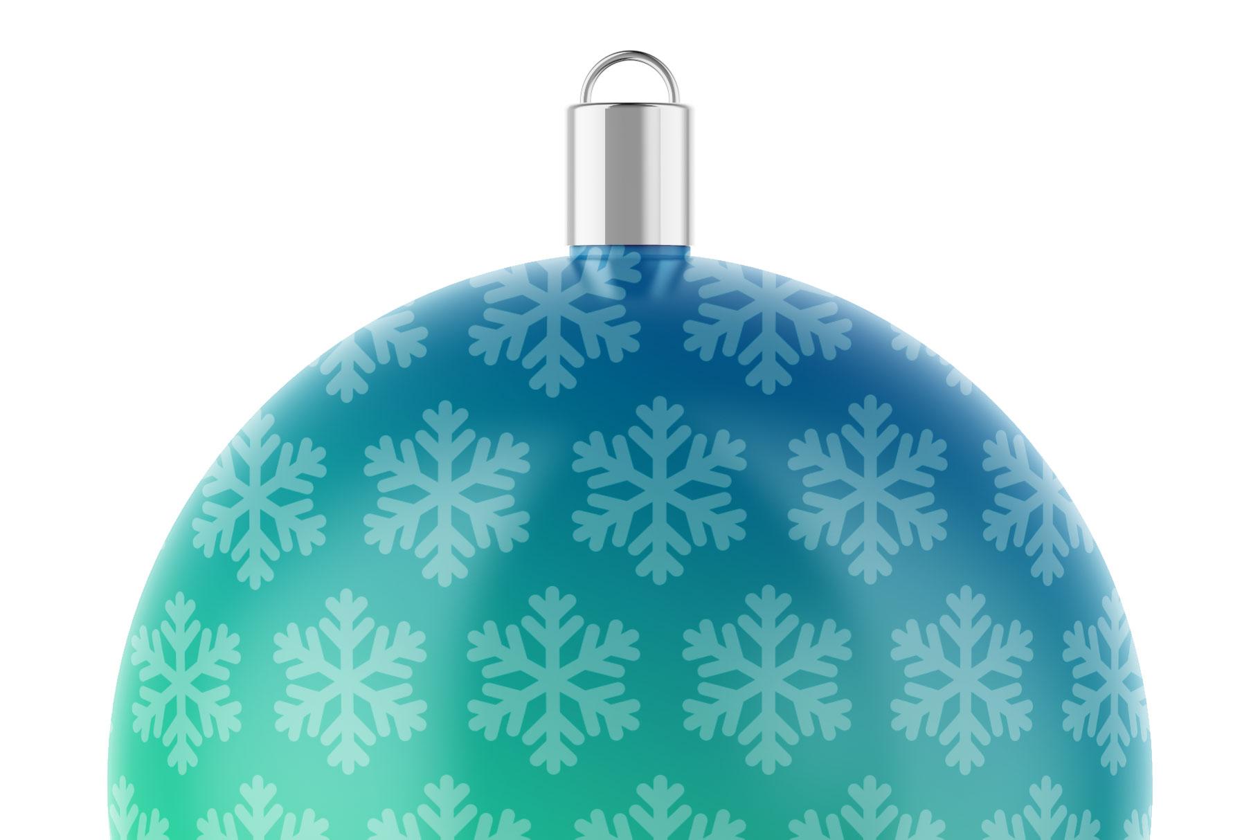 Matte Christmas Ball Mockup example image 5