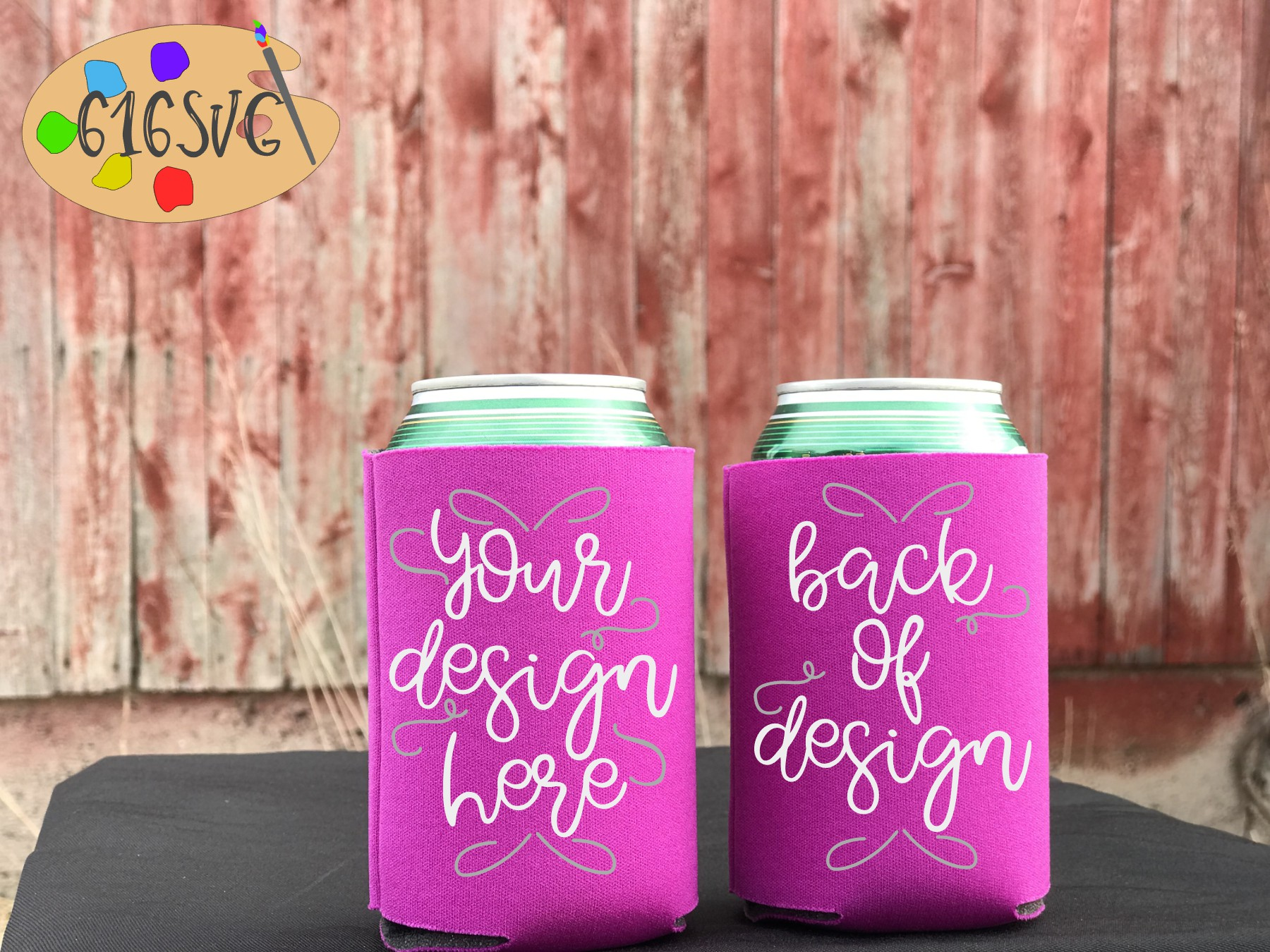 Can Cooler Mockup Bundle 33 Color Choices example image 12