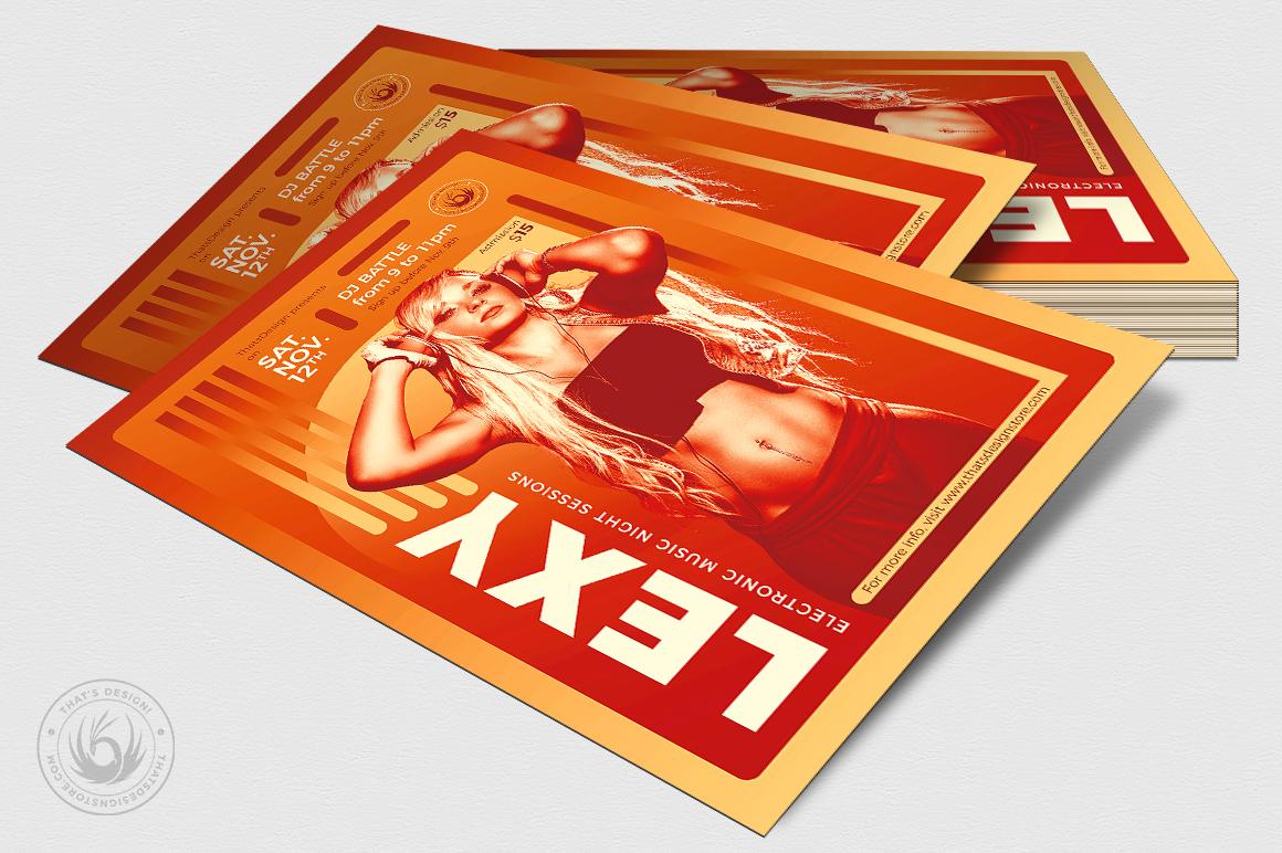 DJ Session Flyer Template V8 example image 4