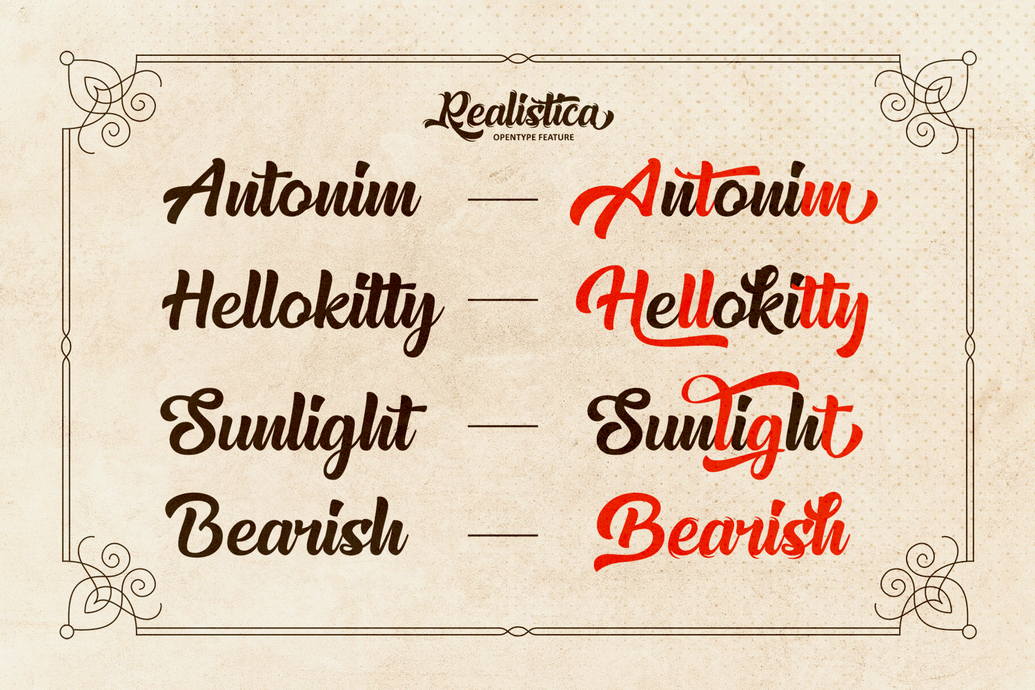 Realistica Font example image 7