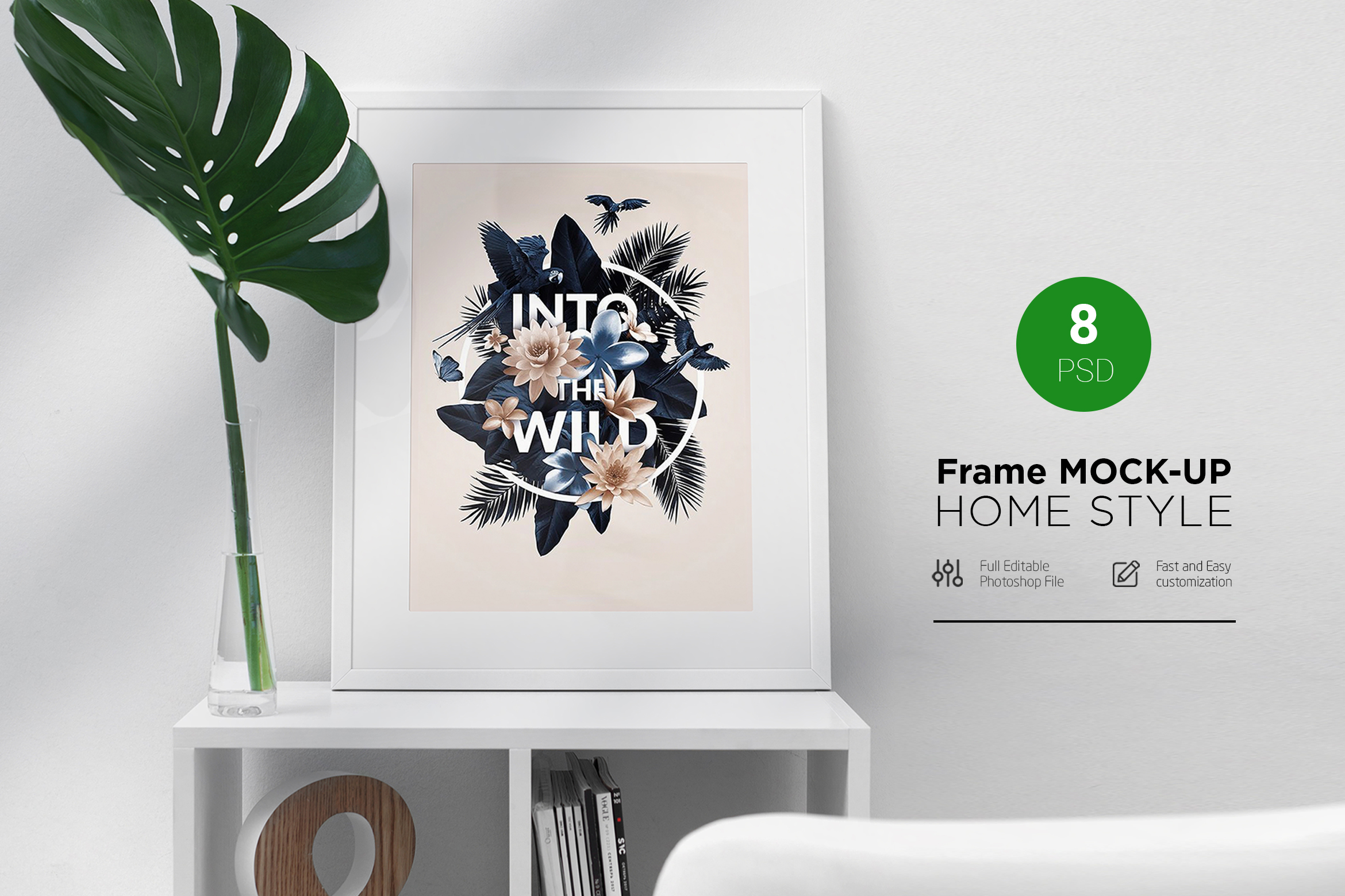 Frame Mock-Up Home Style 8 PSD example image 1