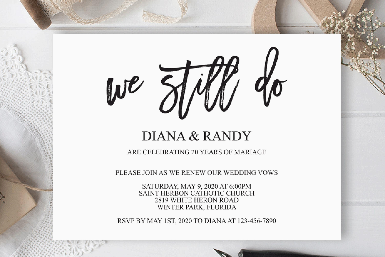 We still do invitation Wedding anniversary invitation example image 2