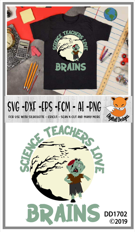 Science Teachers Love Brains Halloween SVG example image 2