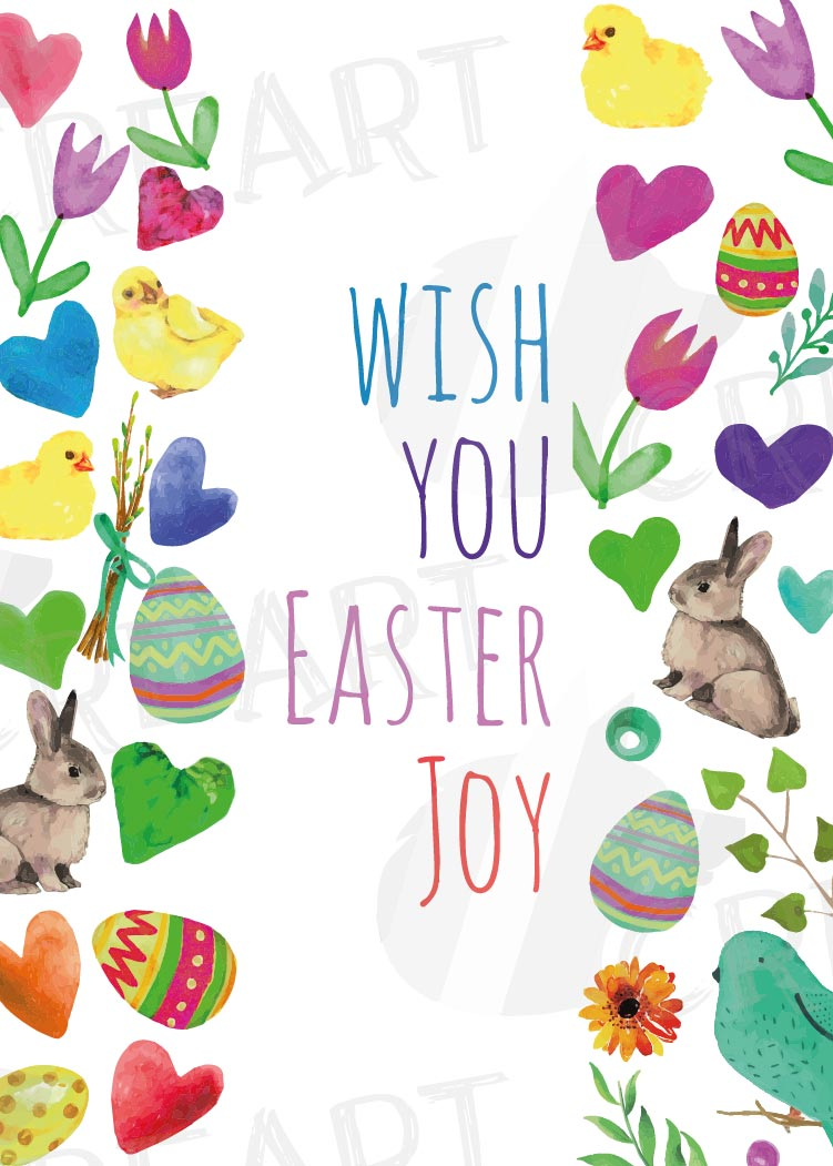 Easter greeting cards, 6 Happy Easter cards, colorful cards example image 15