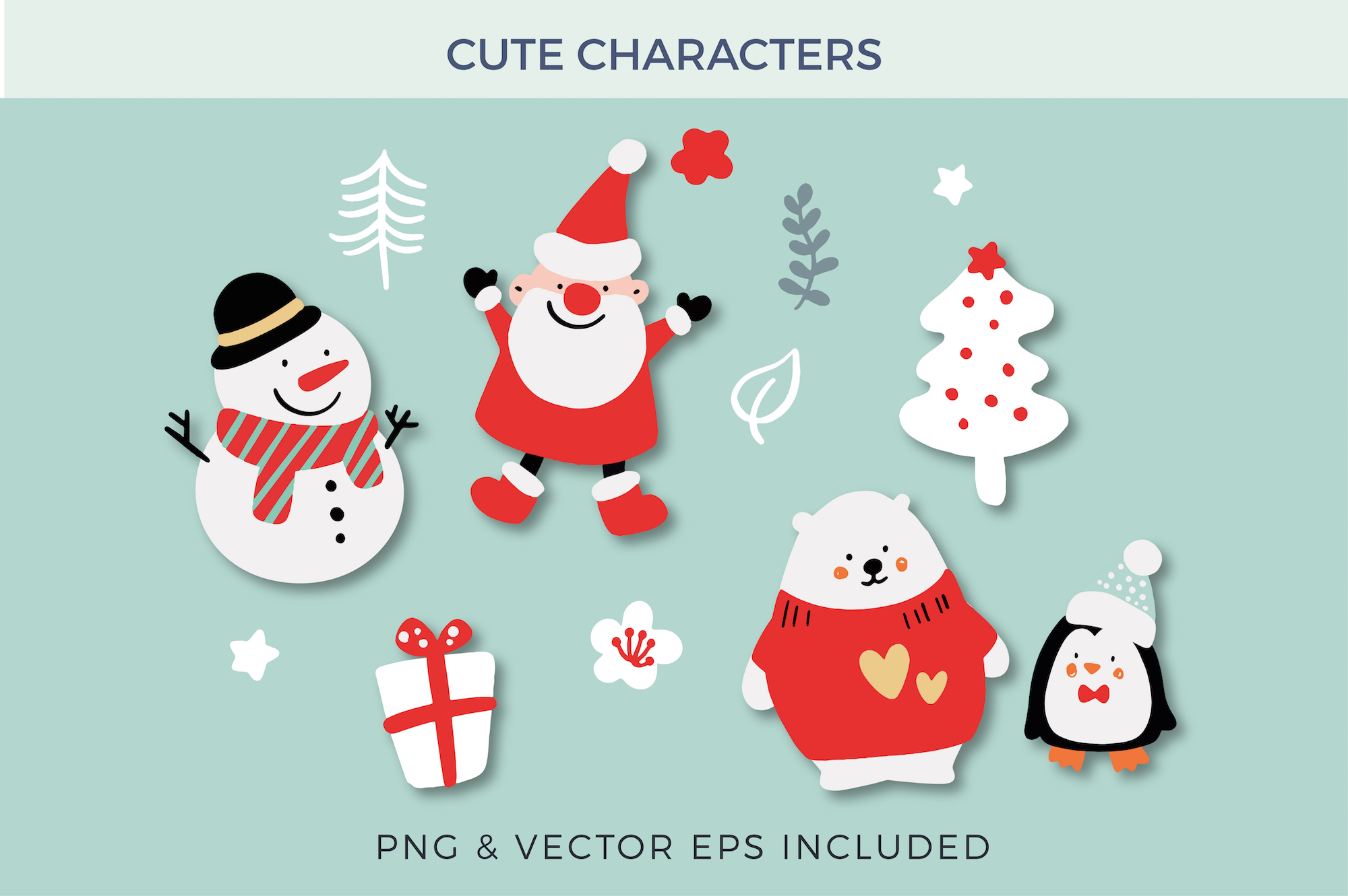 Merry Christmas Characters! example image 3