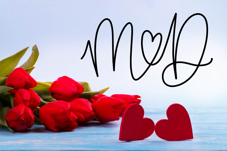 Couple Monoline Monogram Font - Perfect For Weddings! example image 5