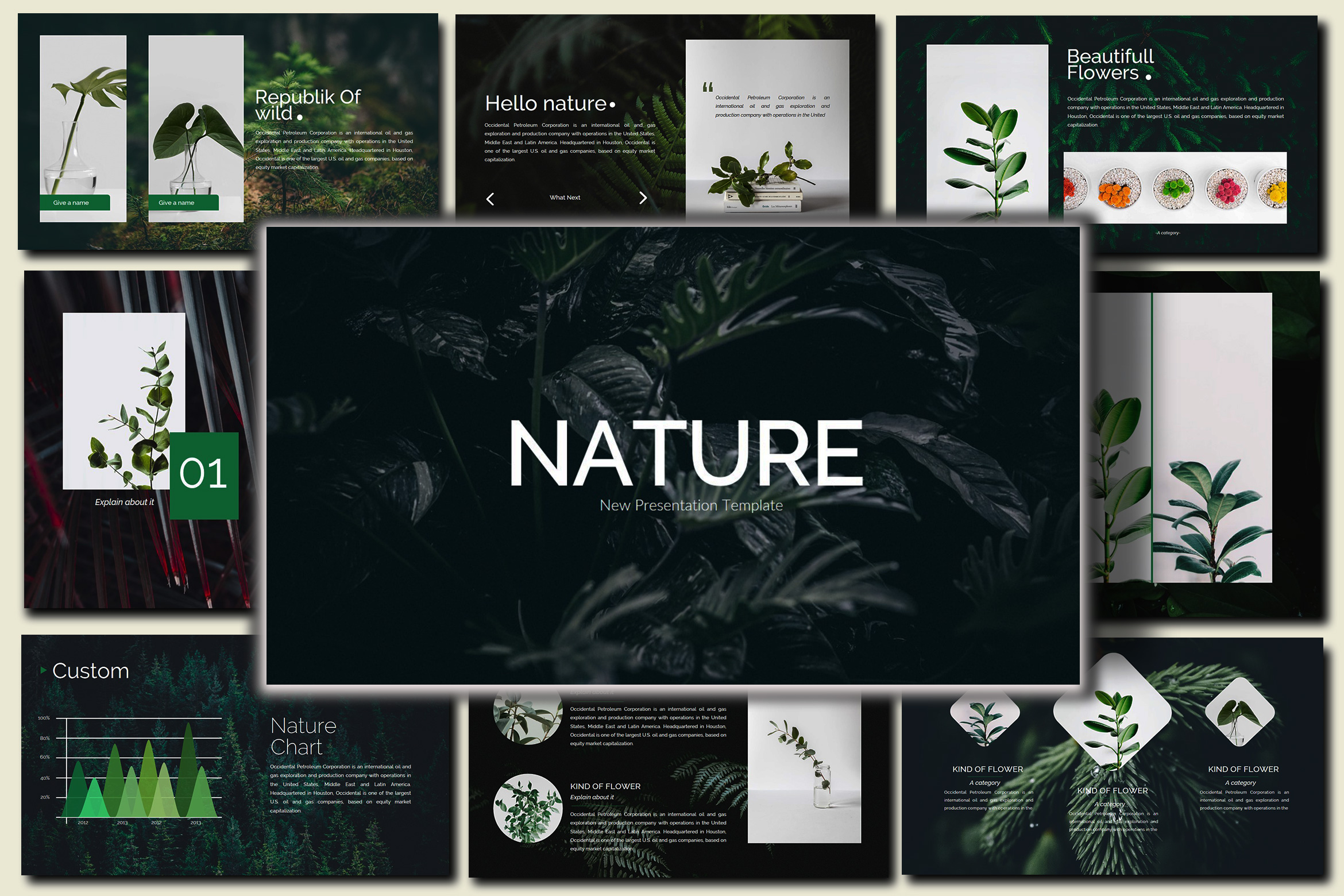 Nature - Google Slides Presentation example image 2