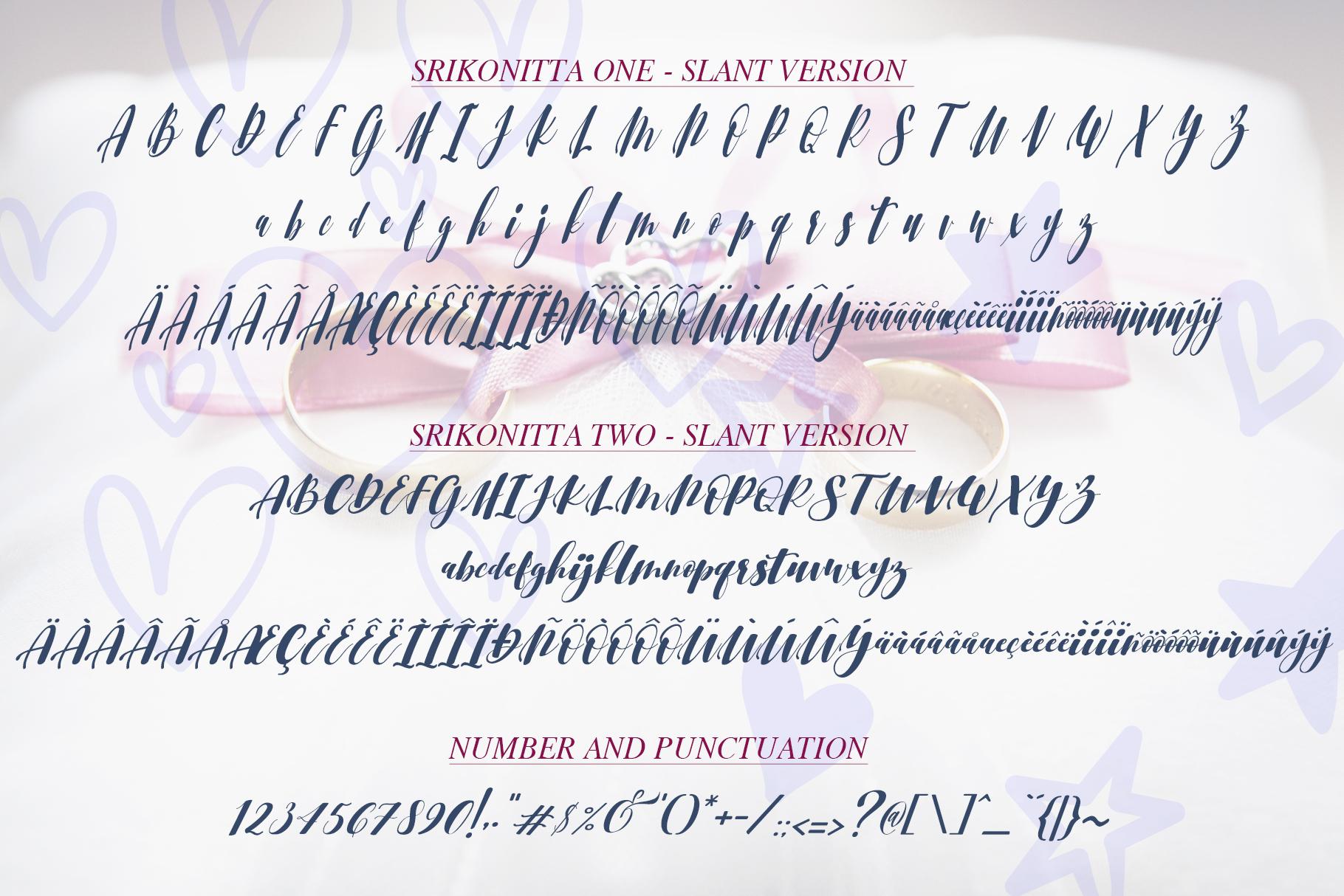 Srikonitta Script  FREE Vectors example image 11