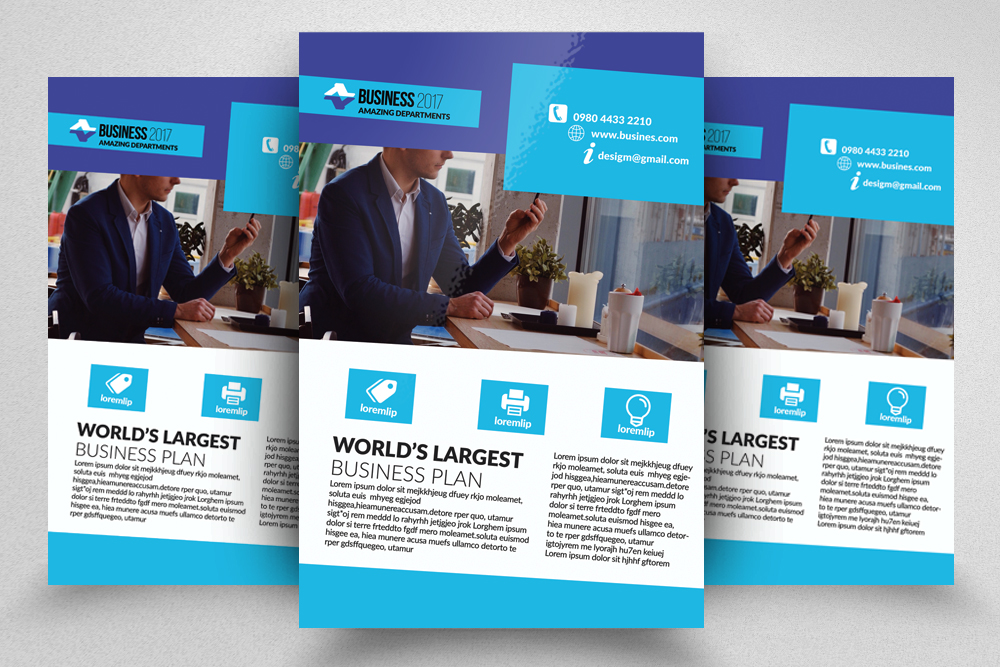 10 Corporate Psd Flyer Templates Bundle example image 6