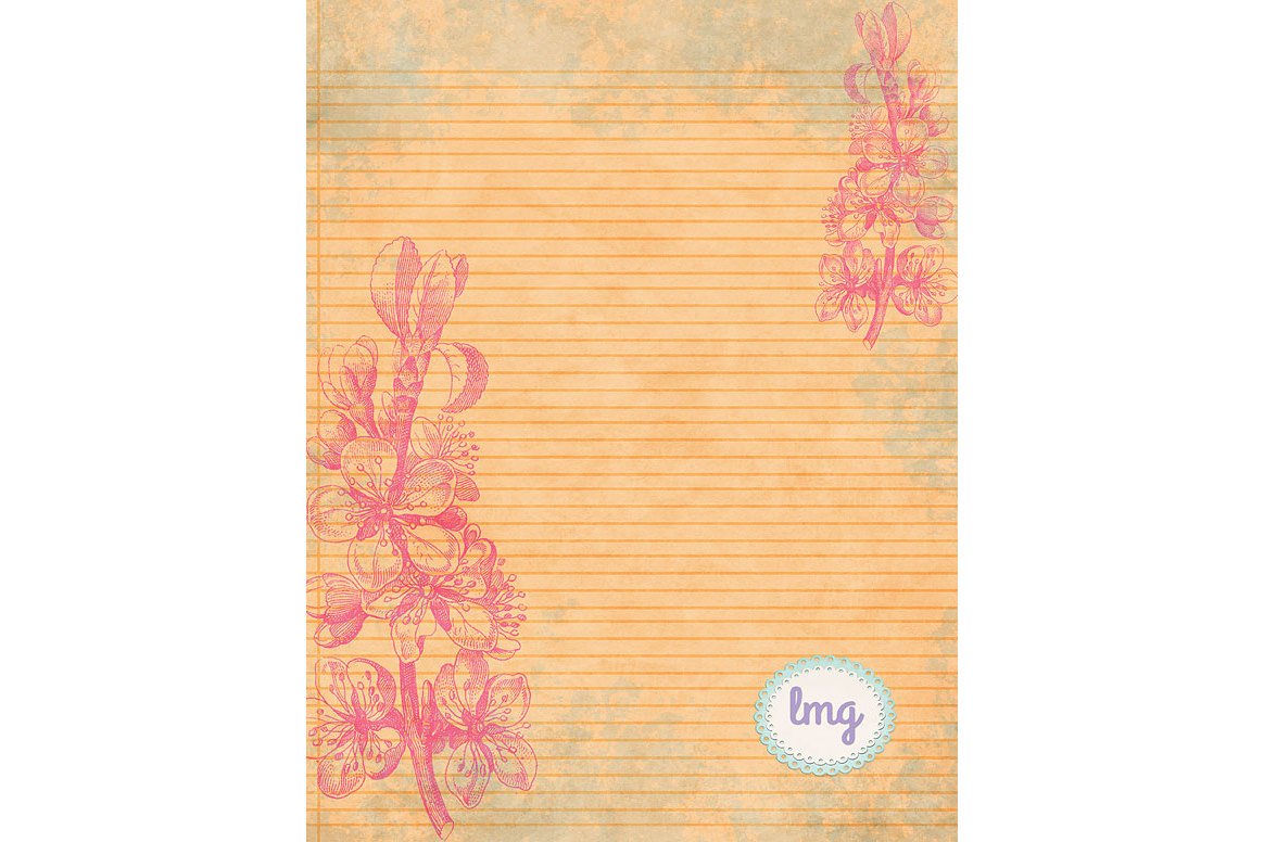 Spring Linen Journal Papers example image 2