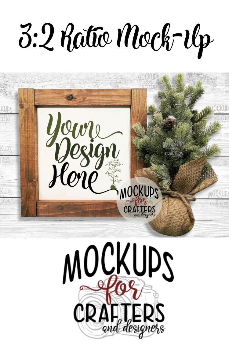 Wood Sign Mock-Up - Winter/Christmas theme example image 2