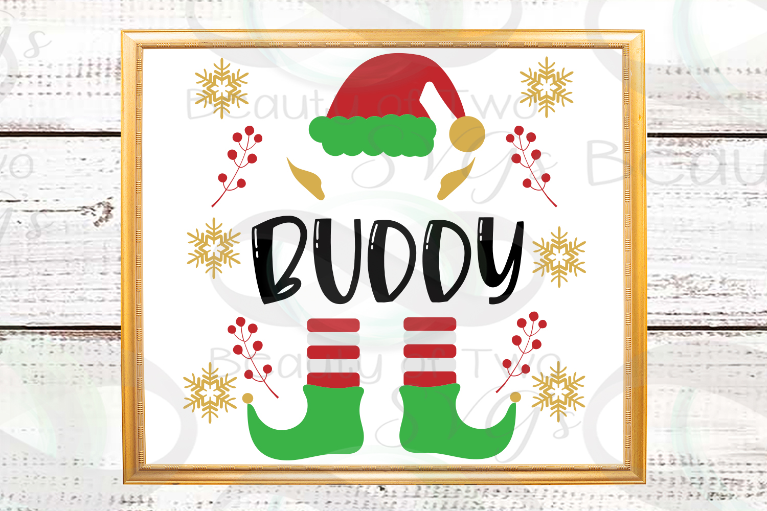 Christmas Elf first or last name customizable svg, Christmas example image 2