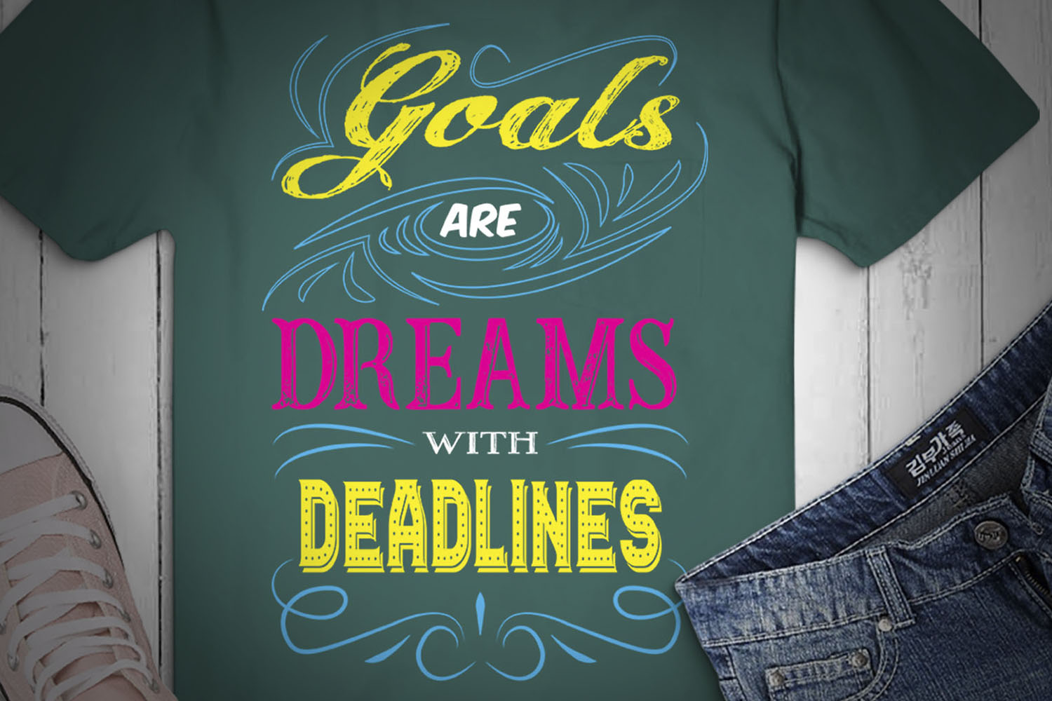 Goals Are Dreams With Deadlines, SVG Design, example image 2