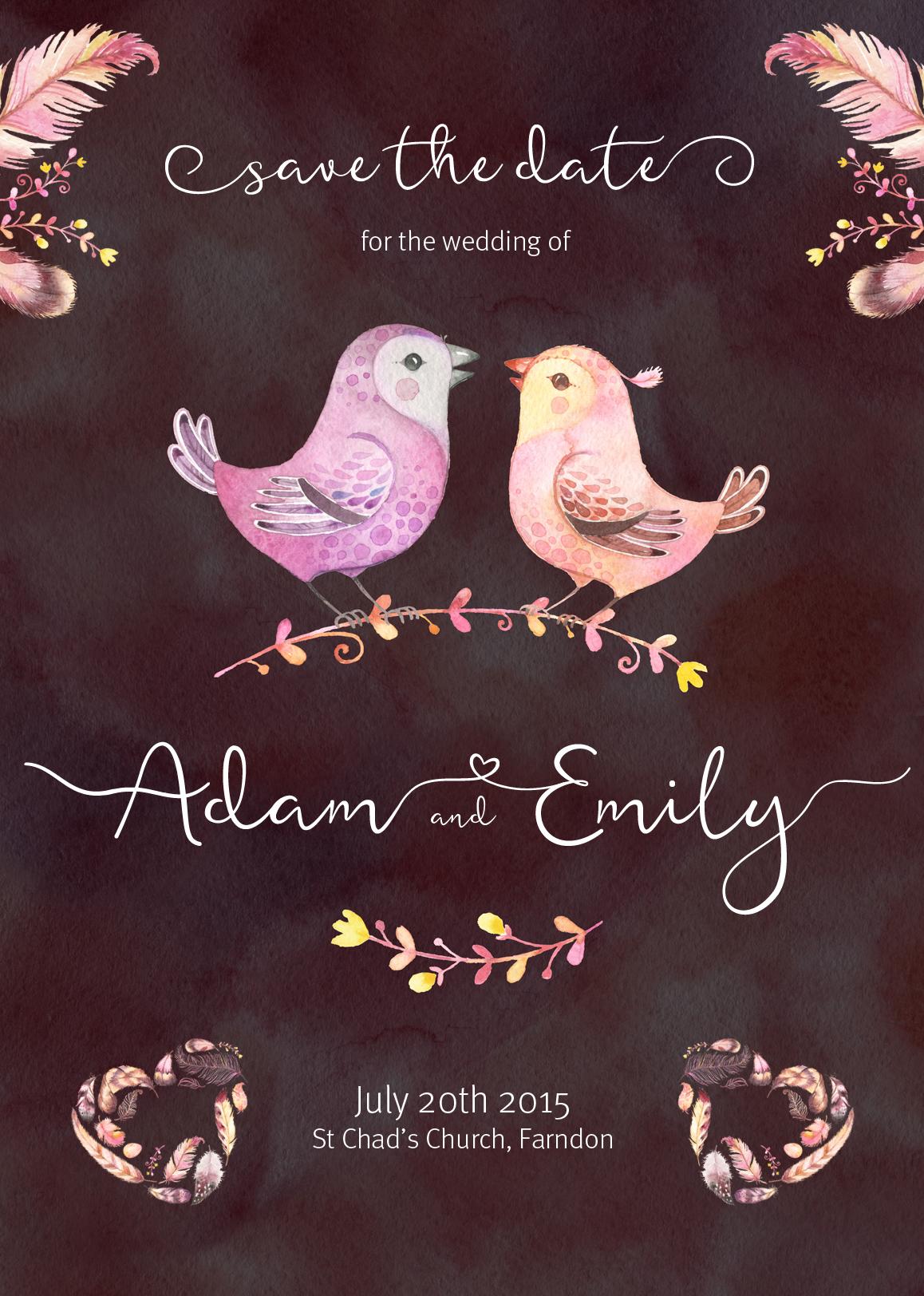 Featherly Bold Font - wedding font example image 2