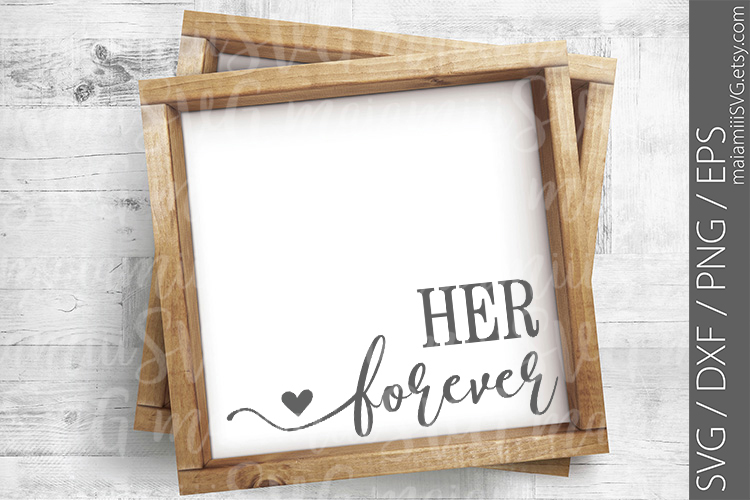 Cut File, Always And Forever Sign, Love Sign, Bedroom Sign example image 3
