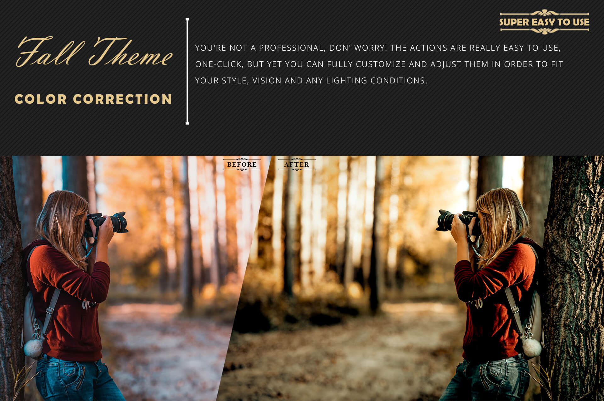 150 Fall Theme Color Grading Premium Photoshop action example image 5