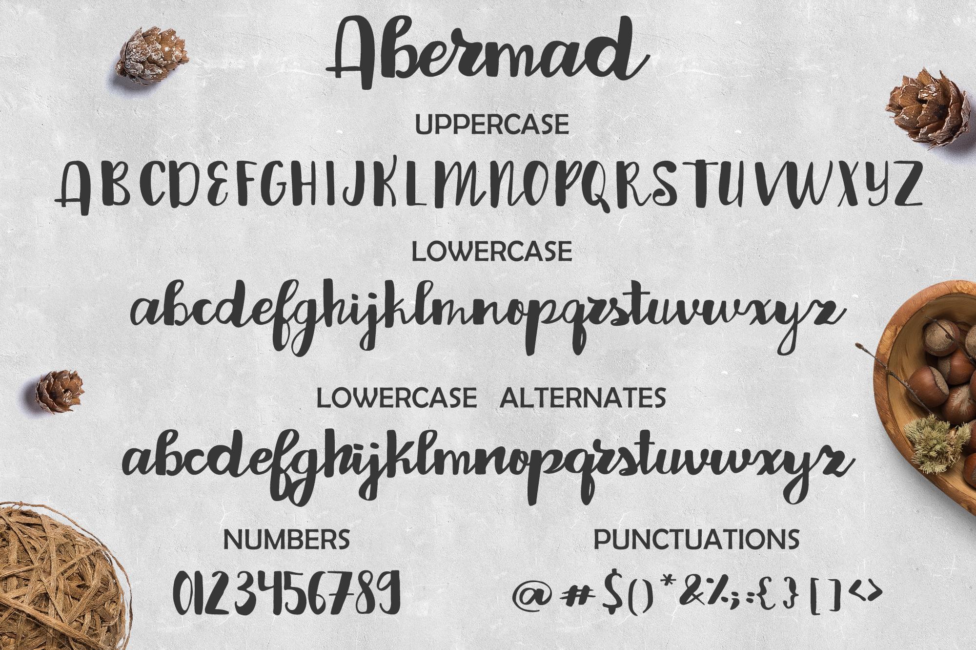 Abermad - brush font example image 6
