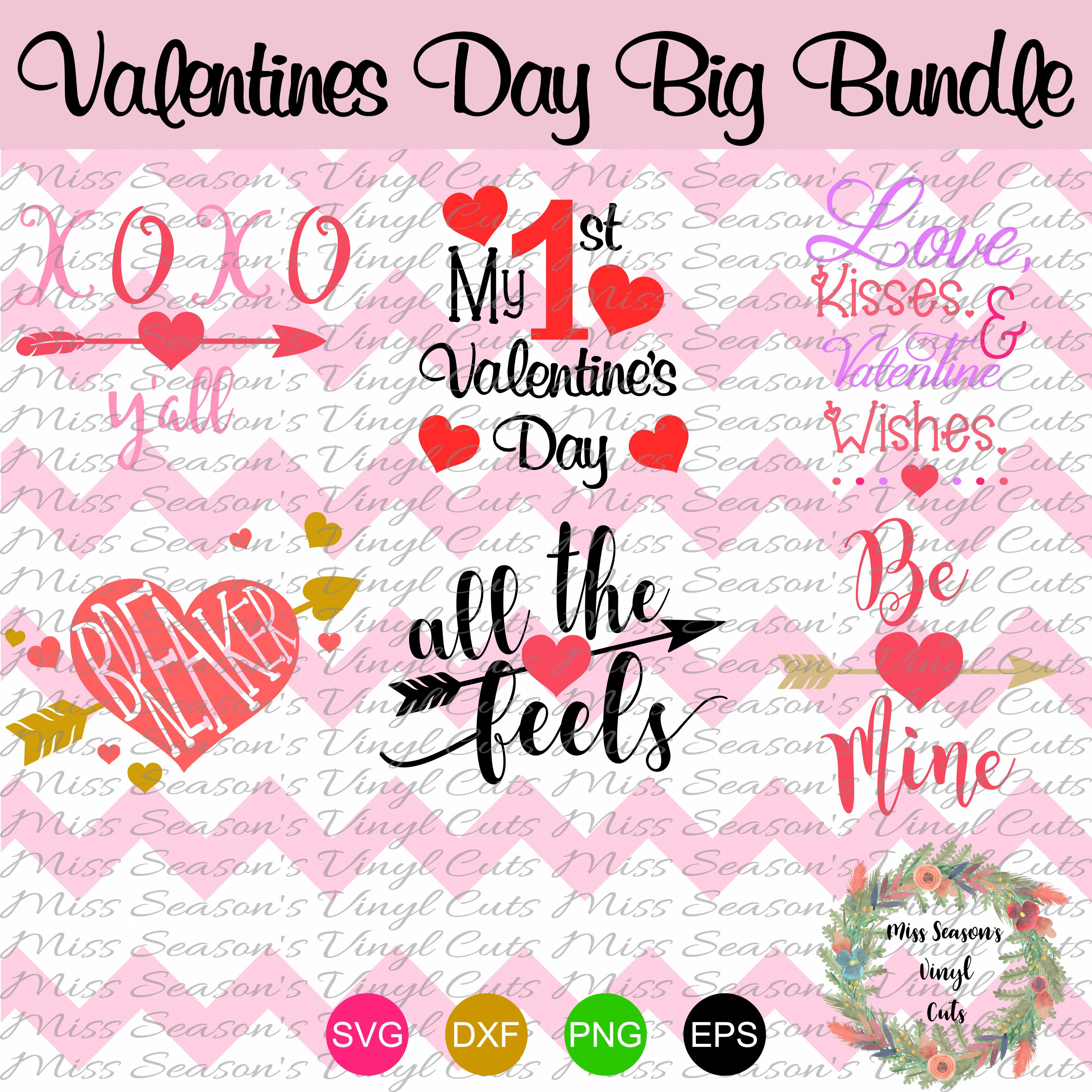 Huge Valentines Day Bundle SVG  example image 4