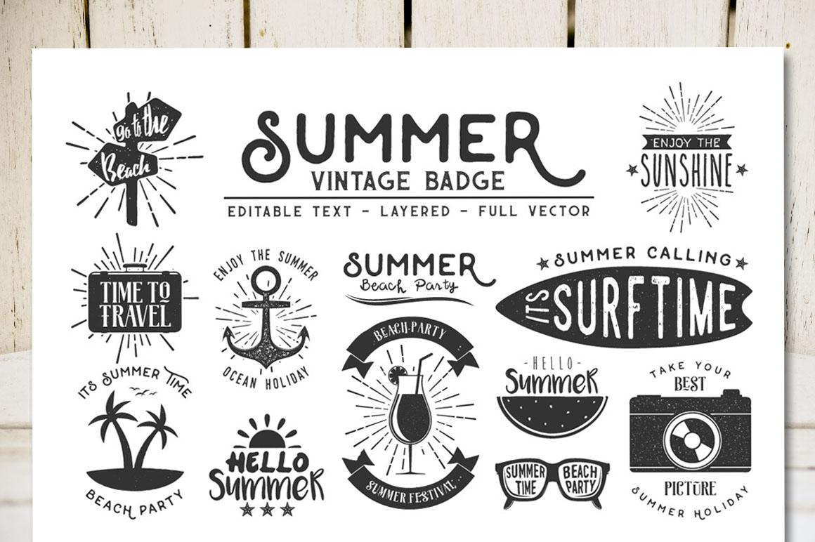 Summer Vintage Badge example image 1