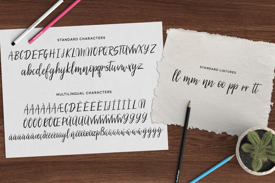 Silhouetto Script Font example 6