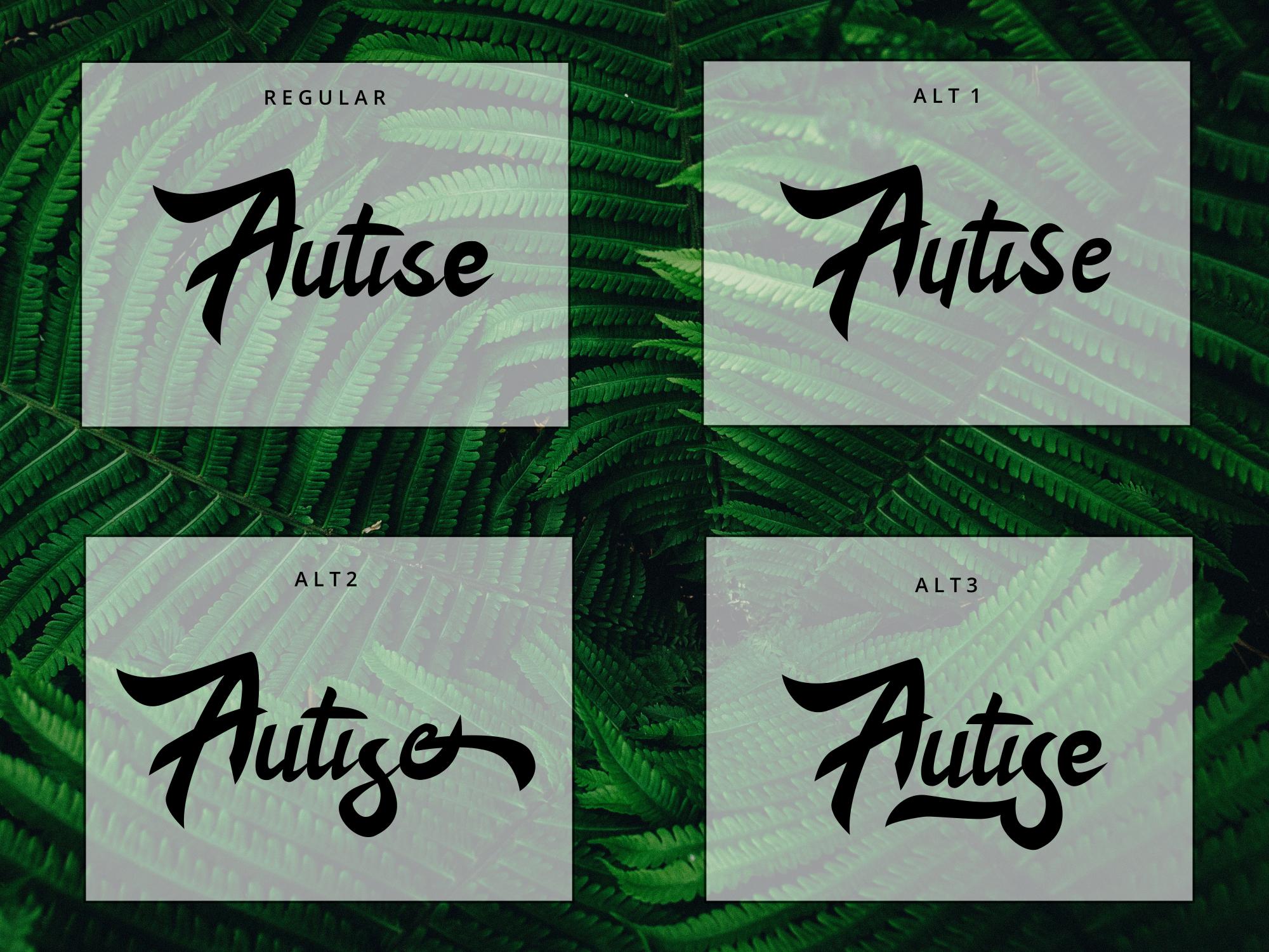 Autise font set example image 3
