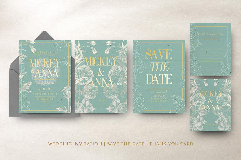 Classic Foliage Wedding Invitation example image 5